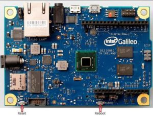 Intel galileo buttons