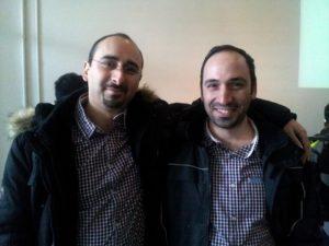 المصممين وسام (اليمين) وأخيه همام البهنسي (اليسار)